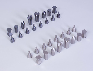 UMBRA PATINATED METAL CHESS SET