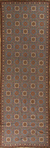ENGLISH NEEDLEWORK TILE LONG RUG
