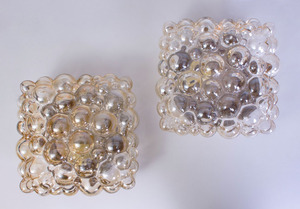 PAIR OF HELENA TYNELL CHAMPAGNE 'BUBBLE GLASS' SCONCES