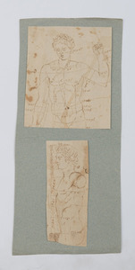 FRENCH SCHOOL: A PORTFOLIO OF NINETEEN DRAWINGS OF ANTIQUE ROMAN SCULPTURES