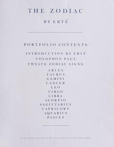 ERTE (1892-1990): THE ZODIAC