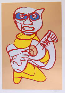 KAREL APPEL (1921-2006): KOOL LUKE SINGING HANDS; GILT EDGE SINGING HANDS; INDIGO BLUE SINGING HANDS; AND RED CAP SINGING HANDS