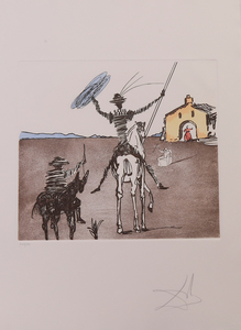 SALVADOR DALI (1904-1989): THE IMPOSSIBLE DREAM, FROM HISTORIA DE DONE QUICHOTTE DE LA MANCHA: TWO PLATES