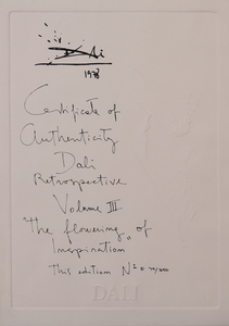 SALVADOR DALI (1904-1989): THE FLOWERING OF INSPIRATION (GALA EN FLEURS), FROM THE RETROSPECTIVE SUITE
