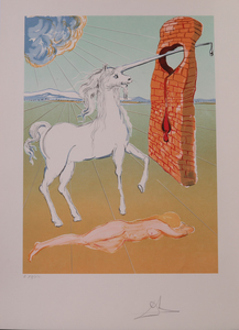 SALVADOR DALI (1904-1989): THE AGONY OF LOVE (THE UNICORN), FROM THE RETROSPECTIVE SUITE