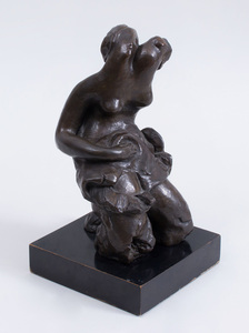 AFTER ALEXANDER ARCHIPENKO (1887-1964): SEATED WOMAN