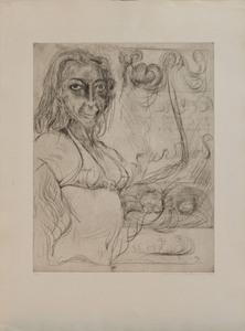 Antonius Hockelmann (1937-2000): Pinup; and Woman's Head