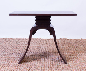 PAUL FRANKL EBONIZED SIDE TABLE FOR BROWN SALTMAN