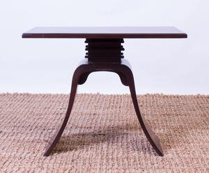 PAUL FRANKL EBONIZED SIDE TABLE FOR BROWN SALTMAN
