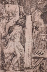 GIOVANNI BATTISTA PIRANESI (1720-1778): THE MAN ON THE ROCK, FROM IMAGINARY PRISONS
