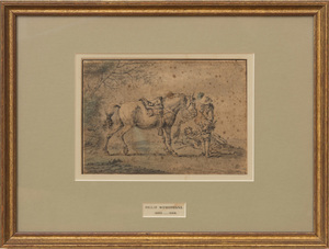 ATTRIBUTED TO PHILIPS WOUWERMAN (1619-1668): HORSE AND RIDER