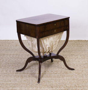 George III Style Mahogany Sewing Table