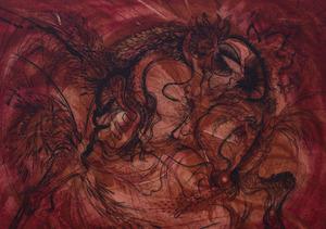 GABOR PETERDI (1915-2001): RED, ORANGE, BLACK