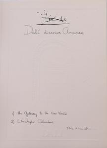 SALVADOR DALI (1904-1989): DALI DISCOVERS AMERICA