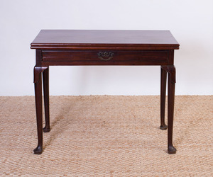 GEORGE II MAHOGANY GAMES TABLE