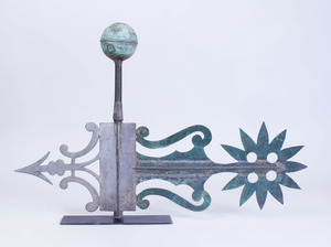 AMERICAN CUT SHEET-METAL AND COPPER BANNER WEATHERVANE
