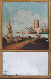LOUIS XVI CARVED GILTWOOD TRUMEAU