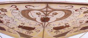 FORTUNY FOR VENETIA STUDIUM SILK TRIPLE PAGODA-FORM 'SHEHERAZADE' PLAFFONIER