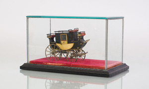 ENGLISH PAINTED METAL MODEL OF A MAIL COACH