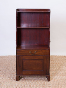 GEORGE III MAHOGANY SMALL BOOKCASE