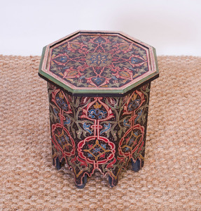 MOROCCAN STYLE PAINTED OCTAGONAL TABLE