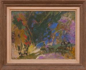 ETHEL MAGAFAN (1916-1993): AT THE FOOT OF THE CANYON