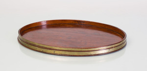 REGENCY BRASS-MOUNTED MAHOGANY SMALL OVAL TRAY