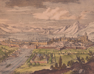 AFTER PIETER SCHENK (1660-1718/19): LISSEBON; AND GENEVE