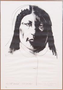 LEONARD BASKIN (1922-2000): SHARP NOSE ARAPAHO; AND WHITE HORSE