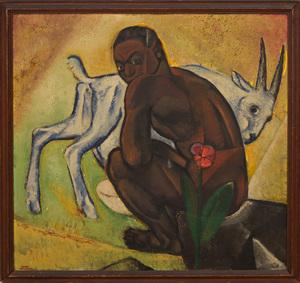 HUGO GELLERT (1892-1985): MAN WITH A GOAT