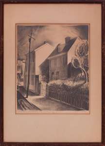 BENTON SPRUANCE (1904-1967): STREET SCENE GERMANTOWN; AND CITY VIEW