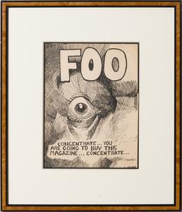 CHARLES CRUMB (b. 1942): FOO COMIC COVER ARTWORK