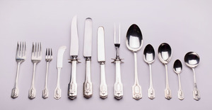 SHREVE & CO. STERLING SILVER FLATWARE PART SERVICE IN THE 'ADAM' PATTERN