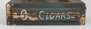 American Metal-Mounted Carved and Painted Wood Small Cigar Store Native American