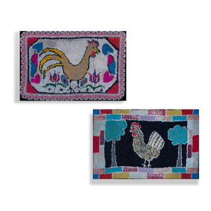 Two American Hooked Rugs