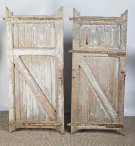 FOUR FRENCH PROVINCIAL PAINTED DOORS
