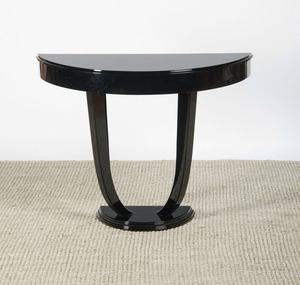 BLACK LACQUER CONSOLE TABLE