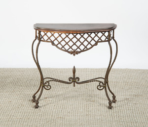 WROUGHT-IRON CONSOLE TABLE