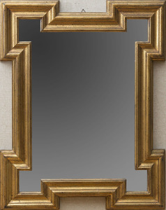 GILTWOOD MIRROR WITH SHAPED FRAME, IN THE FLEMISH BAROQUE STYLE