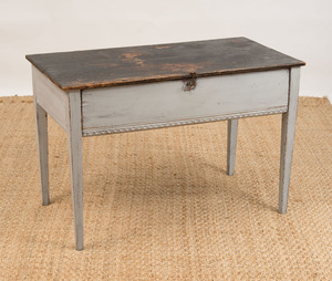 SWEDISH SINGLE-DRAWER PAINTED CENTER TABLE