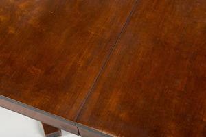 REGENCY STYLE MAHOGANY DOUBLE-PEDESTAL DINING TABLE