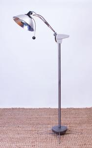 WILMOT CASTLE STEEL INDUSTRIAL FLOOR LAMP