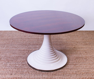 CARLO DI CARLI ROSEWOOD AND PAINTED WOOD PEDESTAL TABLE FOR SORMANI