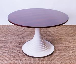 CARLO DI CARLI ROSEWOOD AND PAINTED WOOD PEDESTAL TABLE FOR SORMANI