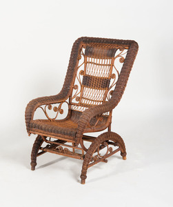 VICTORIAN STYLE WICKER ROCKING CHAIR