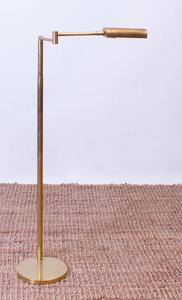 BRASS SWING-ARM FLOOR LAMP