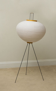 ISAMU NOGUCHI METAL, PAPER AND BAMBOO '10A' FLOOR LAMP FOR AKARI