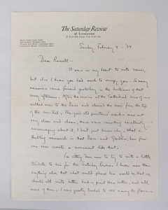 MORLEY, CHRISTOPHER: TWO AUTOGRAPHED LETTERS