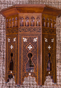 MOROCCAN HARDWOOD AND INLAID OCTAGONAL-SHAPED TABLE