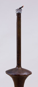 BRONZE FLOOR LAMP, IN THE STYLE OF ALBERTO GIACOMETTI